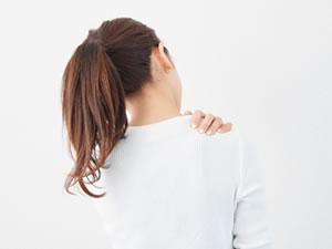 肩が凝った女性